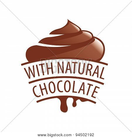Vector Logo With Natural Chocolate Candy