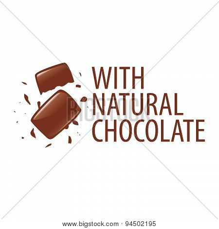 Vector Logo With Natural Dark Chocolate