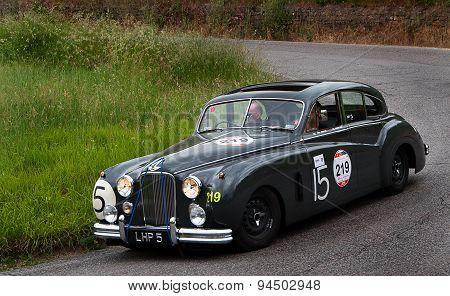 old car  JAGUAR Mark VII  mille miglia 2015