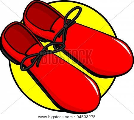 large clown shoes