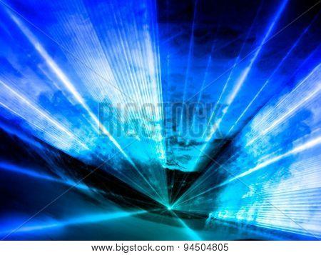 Blue Lasershow