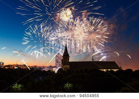 Fireworks Over The Cathedral Of Kant