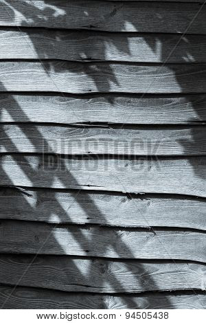 Shadows On Weathered Wooden Fence