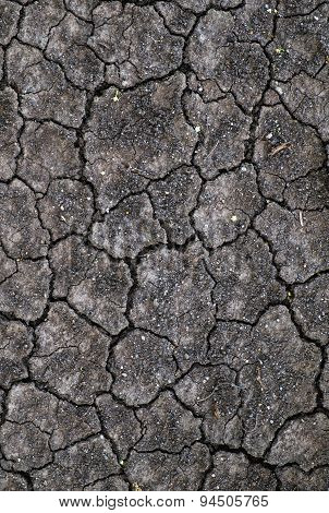 Dry cracked soil ground texture background