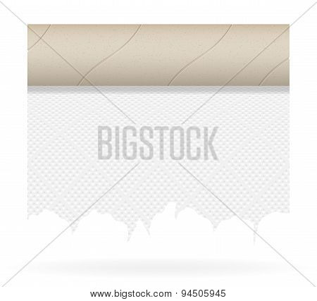 Piece Toilet Paper Vector Illustration