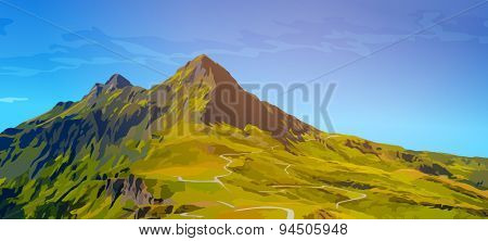 High mountains summer landscape.