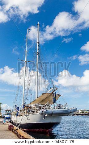 Nice Schooner In Curacao