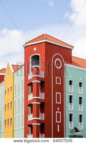 Red Yellow And Green Resort In Curacao