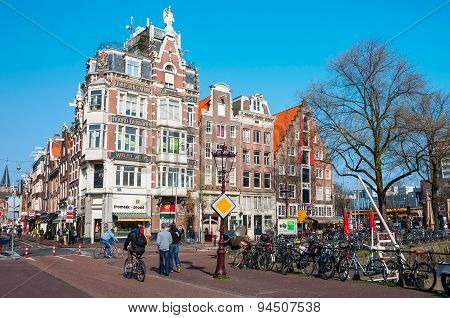 City Life In Amsterdam City Center
