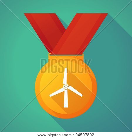 Long Shadow Gold Medal With A Wind Generator