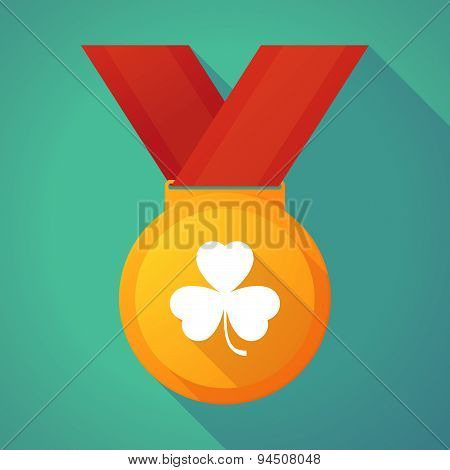 Long Shadow Gold Medal With A Clover