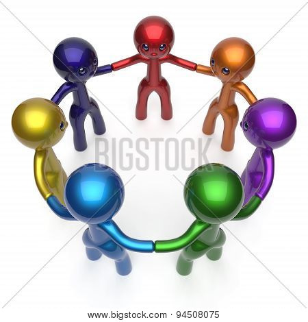Social Network Teamwork Human Resources Circle People