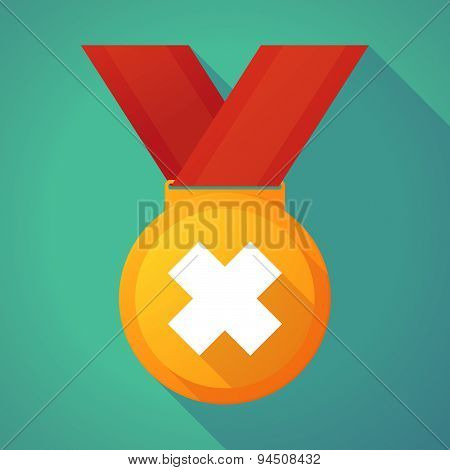 Long Shadow Gold Medal With An Irritating Substance Sign
