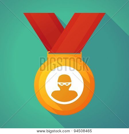 Long Shadow Gold Medal With A Thief