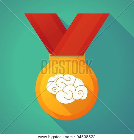 Long Shadow Gold Medal With A Brain