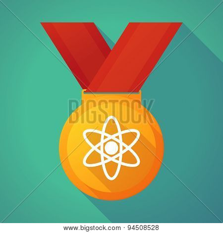 Long Shadow Gold Medal With An Atom
