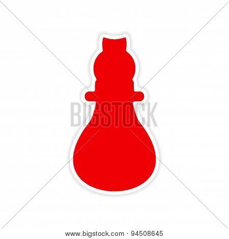 icon sticker realistic design on paper lightbulb