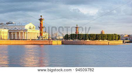 Vasilevsky Island, Rostral Columns, Saint-petersburg, Russia