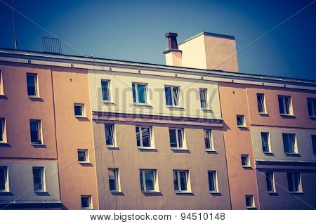 Vintage Photo Of Block Of Flats Abstraction
