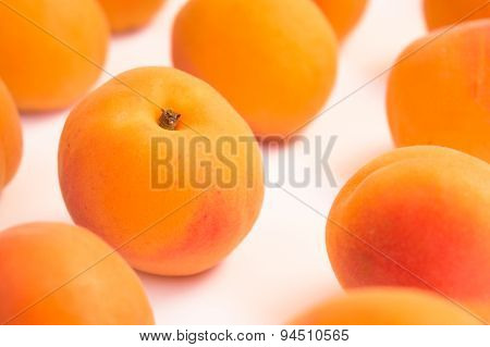Diagonal Arrangement of Fresh Apricots