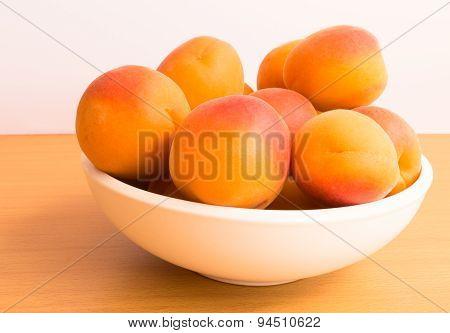 Fruit Bowl of Ripe Juicy Apricots