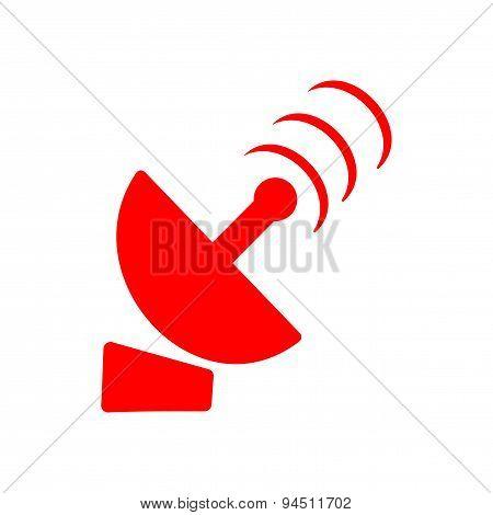 icon sticker realistic design on paper satellite dish