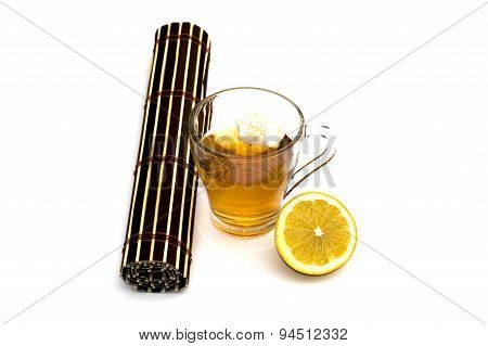 Glass Of Yellow Drink, Treatment By Herbs