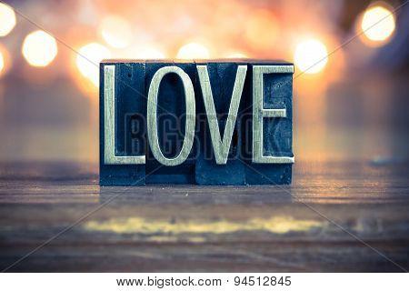 Love Concept Metal Letterpress Type