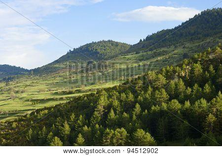Idyllic landscape in Teruel province, aragon, Spain.