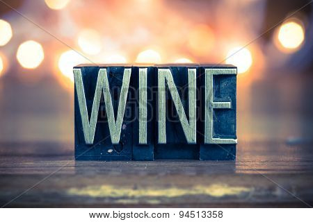 Wine Concept Metal Letterpress Type