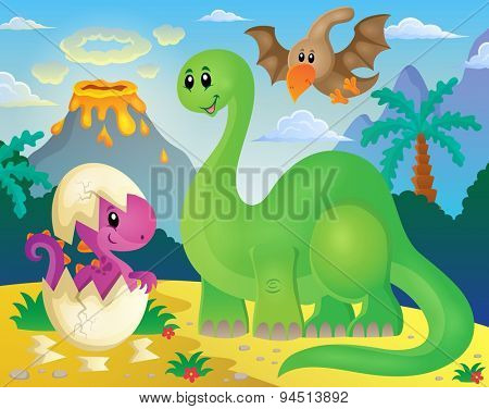 Dinosaur theme image 5 - eps10 vector illustration.