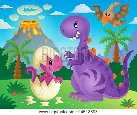Dinosaur theme image 4 - eps10 vector illustration.