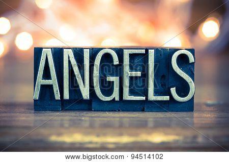 Angels Concept Metal Letterpress Type