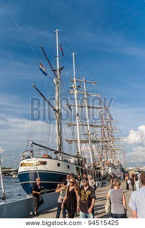 Sailboats On Regatta In Saint-petersburg