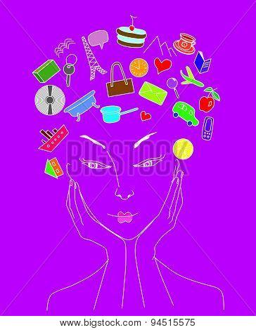 Women's head