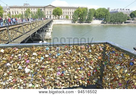 Love locks from the Pont des Arts Bridge