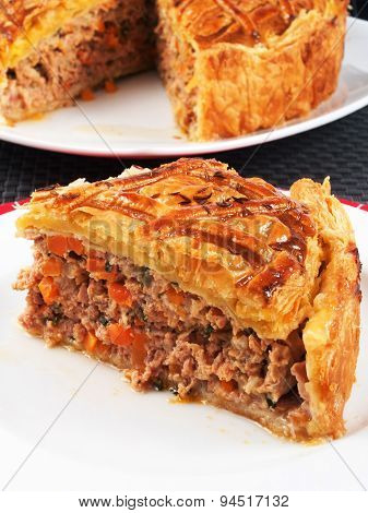 Quiche With Meat And Carrots