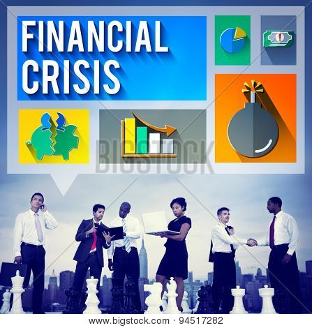 Financial Crisis Problem Money Issue Concept