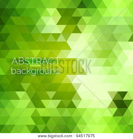 Abstract Vector Geometric Background. Green Fresh Background. Backdrop Design Element. Triangle Back