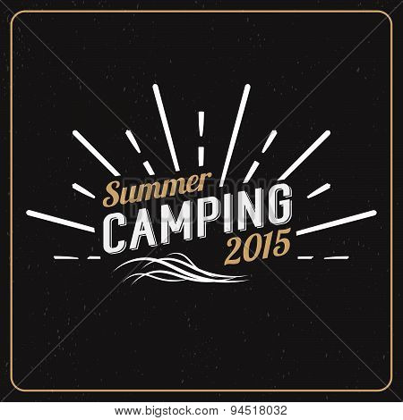 Set Of Vintage Summer Camp Badges And Other Outdoor Logo's, Emblems And Labels. Camping Vector Calli