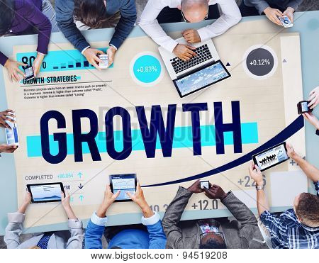 Growth Development Success Strategy Concept