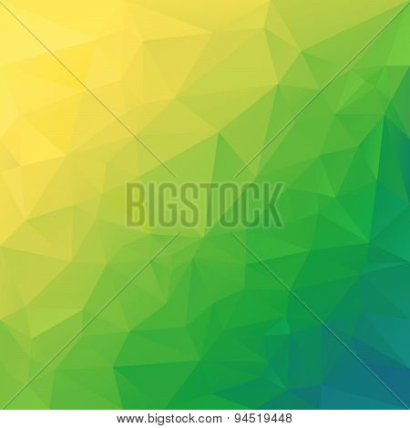 Vector Polygonal Background Triangular Design In Diagonal Col