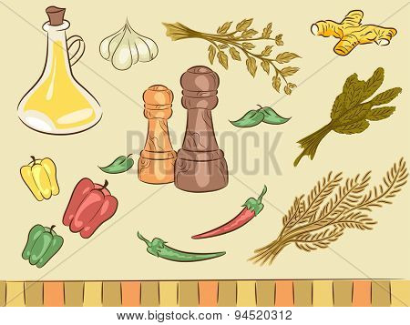Illustration of Elements Typically Associated with Spices