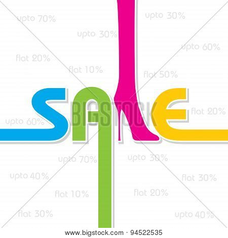 sale background and label for business promotion stock vector