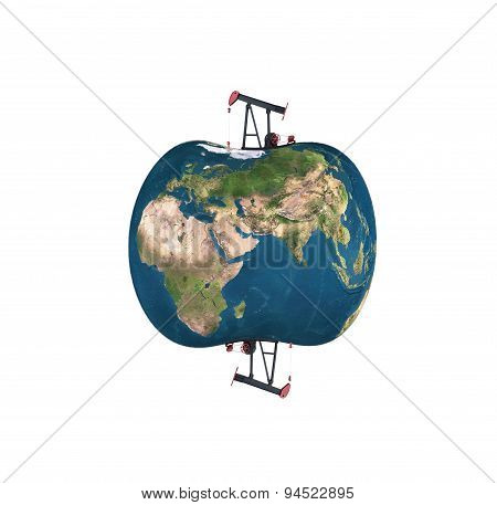 Pumpjack Sucking The Earth