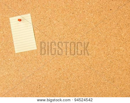 cork board pinned note file