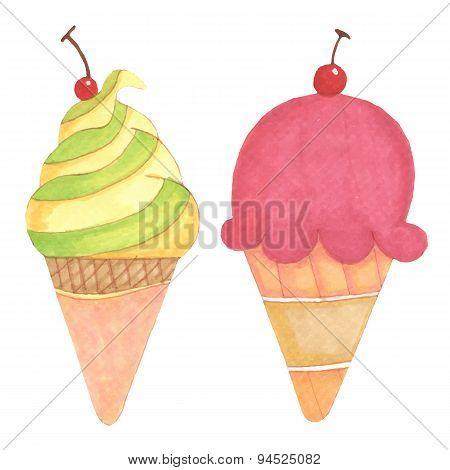Ice Cream Hand-drawn Illustration