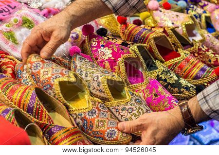 Colorful oriental shoes