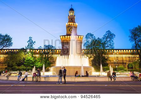Sforza Castle Is A Castle In Milan, Northern Italy.