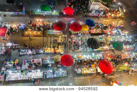 Outdoor night market in Bangkok